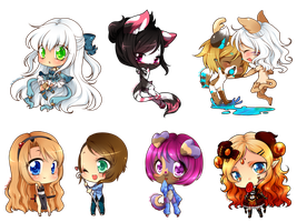 Chibi commissions batch by DesireeU