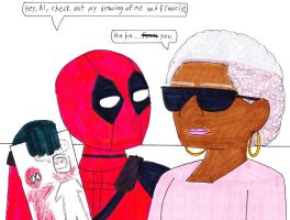 Deadpool's Drawing by RosalinasSoulmate