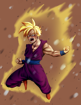 Teen Gohan by Ken-Dolly