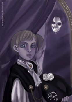 APH:Death in the mirror by MoonyL00ny