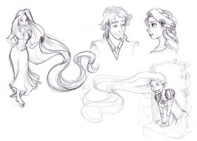 Tangled Doodles by RamblinQuixotic