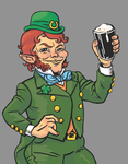 PIN UP LEPRECHAUN by Spools