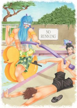 SMITE-Poolseidon: No Running At The Pool! by Nana-Marchae