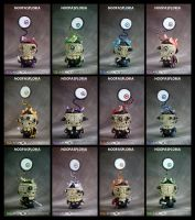 Noopasploria all 12 by SquareFrogDesigns