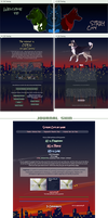 Stray city at night - profile and journal skin by UszatyArbuz