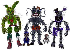 FNAF 6 Rejected and Ejected by JustaRandomGourgeist