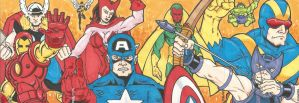 4 card Avengers color Set by chicagogeekdad