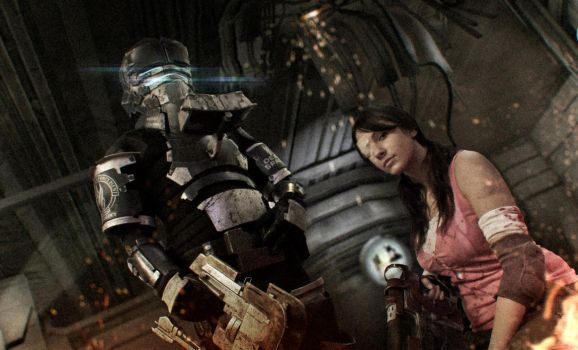 Dead Space - Ellie and Isaac by tarrer