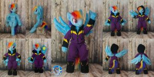 Posable anthro Shadowbolt Rainbow Dash by Essorille