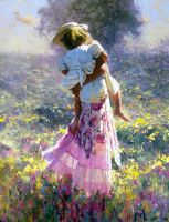 'CARE' 48 x 30 Oil ROBERT HAGAN by robert-hagan