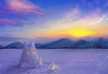 Snow Totoro by fakeplasticcats