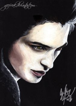 Edward Cullen cover Painting by GeeFreak