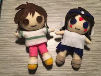 Sin and Princess Monomoke plushies in process by AnimeJanice