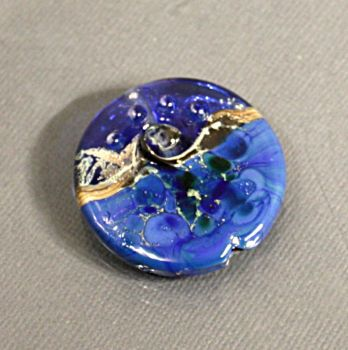Lampworked Medallion Bead by CopperDancer