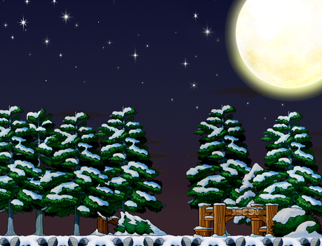 EightQueens 70 5 Frosty Night Custom Background By