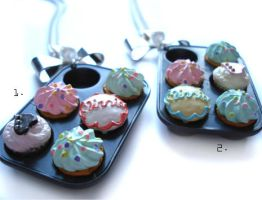 Cupcake Tray Necklaces by geurge