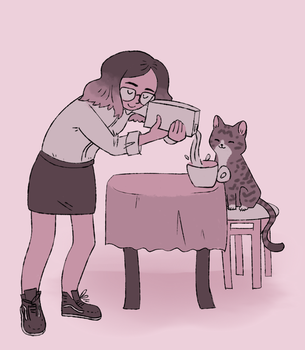 cafe for cats by leaffkun