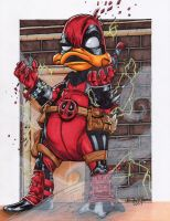 It's QUACKTACULAR Deadpool by SunsetRising-Art