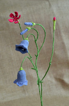 Crochet biotopes: Dry meadow by HolsteinFreestyler