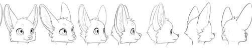 Generic character face turnaround by jamesfoxbr