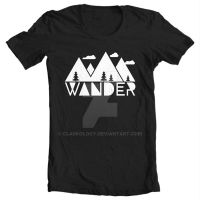 Shirt: Wander by Clarkology