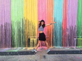 Psychedelic coloured wall by Addy-bose