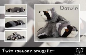 Daruin twins - Raccoon snugglie by FurryFursuitMaker