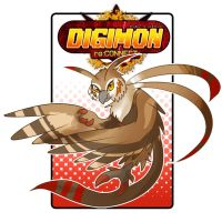 [Digimon re:CON] Strigimon by glitchgoat