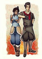 LoK - Team Makorra by belistift