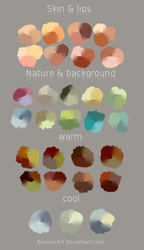 Color Swatches by NiveousArt