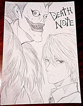 Death Note Drawing by Taysirbh