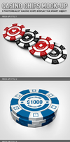 Casino Chips Mock-up by idesignstudio