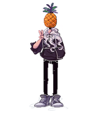   G   painapple (IT'S A GIF) by marbleach