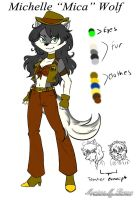 Sly Cooper OC - Michelle ''Mica'' Wolf by Shinigami-Mero-Chan