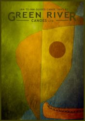 Green River Canoes Paul Klee Poster by houselightgallery