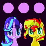Starlight and Sunset (pixel art animation) by SuperHyperSonic2000