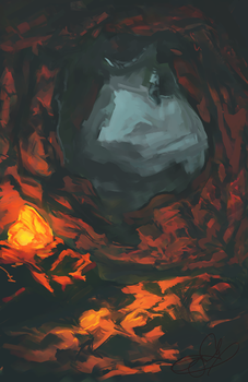 Magical Cave by ancalinar