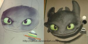 Toothless WIP #1 by diladi