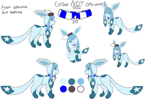 Mascot/ glaceon OC: Crystal ref by MagicCrystal280