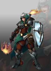 Dragon Slayer Brigitte [ Overwatch Fanskin ] by Makanmi
