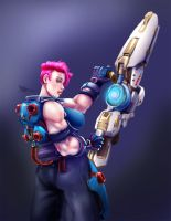 Zarya Overwatch fanrt part 2 by tiocleiton