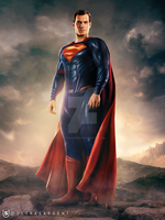 Justice League   Altered Superman Suit by UltraSargent