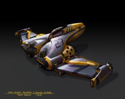 Star Swarm  - Fighter A concept by zombat