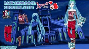 PACK AMOR DOCE: MONSTER HIGH GHOULINA YELPS by Marylusa18