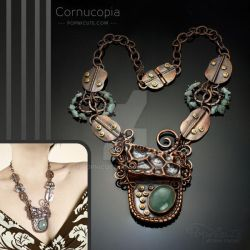 Cornucopia Statement Necklace Foldforming by popnicute