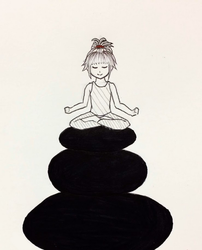 Inktober 2: Tranquil State of Mind by vt2000