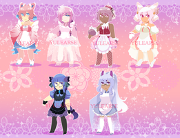 POKEMON GIJINKA MAID SET [5/6 OPEN] PP ONLY by Yulearse