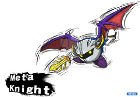 Smash Art- Meta Knight by Hawke525
