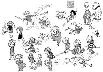 Random Chibi Characters by Noden