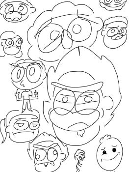 Rick and Morty doodles by AngelsofFallen